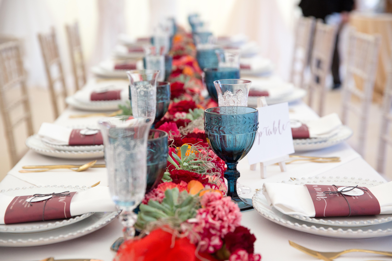 table setting at waddesdon