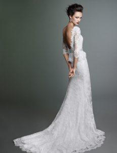 Bride wearing Lusan Mandongus' Dahlia Dress