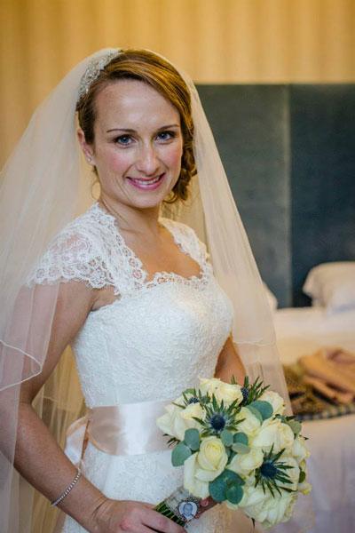 Our Bride Sarah in Augusta Jones 'Bell'