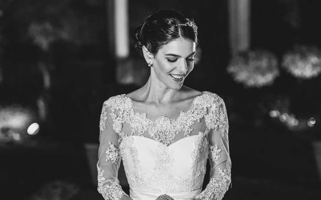 Our bride Milli in bespoke Sassi Holford