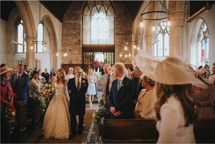 Hannah's wedding ceremony