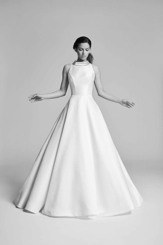 model wearing Suzanne Neville - Swanson wedding dress