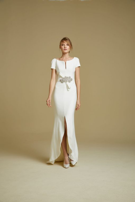 bride modelling Wedding dress style 912 from