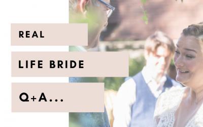 Real life bride Q+A | Laura