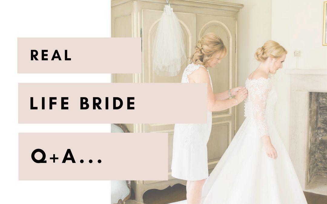 Real life bride Q+A | ASHLEY