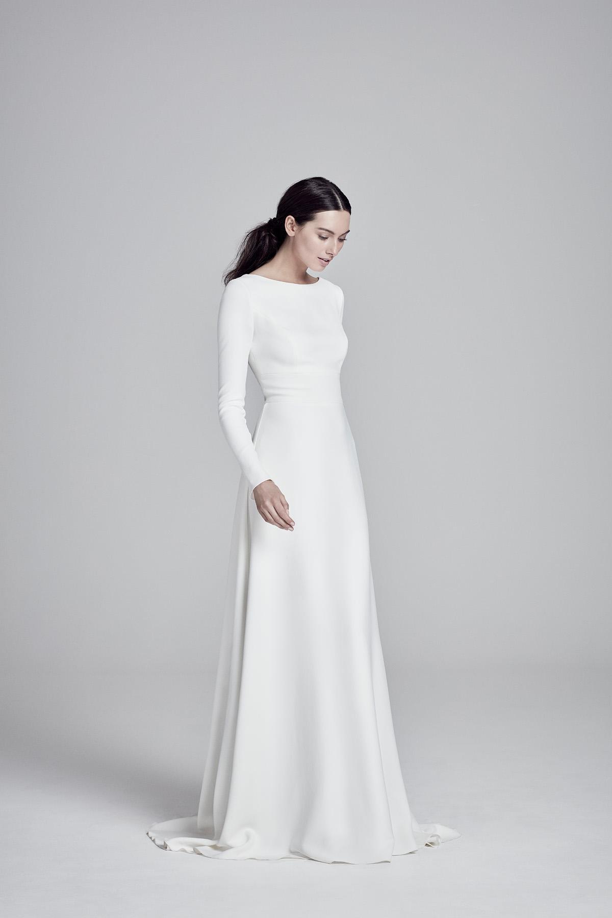 6549af0d11 bride wearing Adair wedding dress by Suzanne Neville