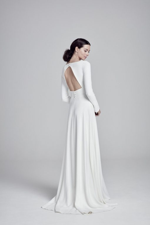 Back view of Adair wedding dress by Suzanne Neville