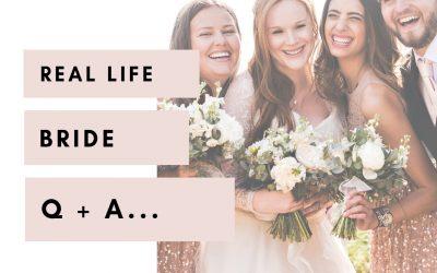 Real Life Bride Q+A | Emily