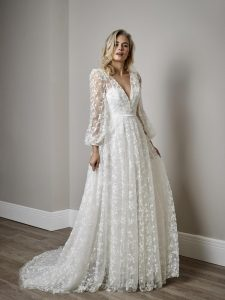Sassi Holford designer wedding dress
