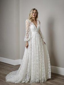 Sassi Holford designer wedding dress