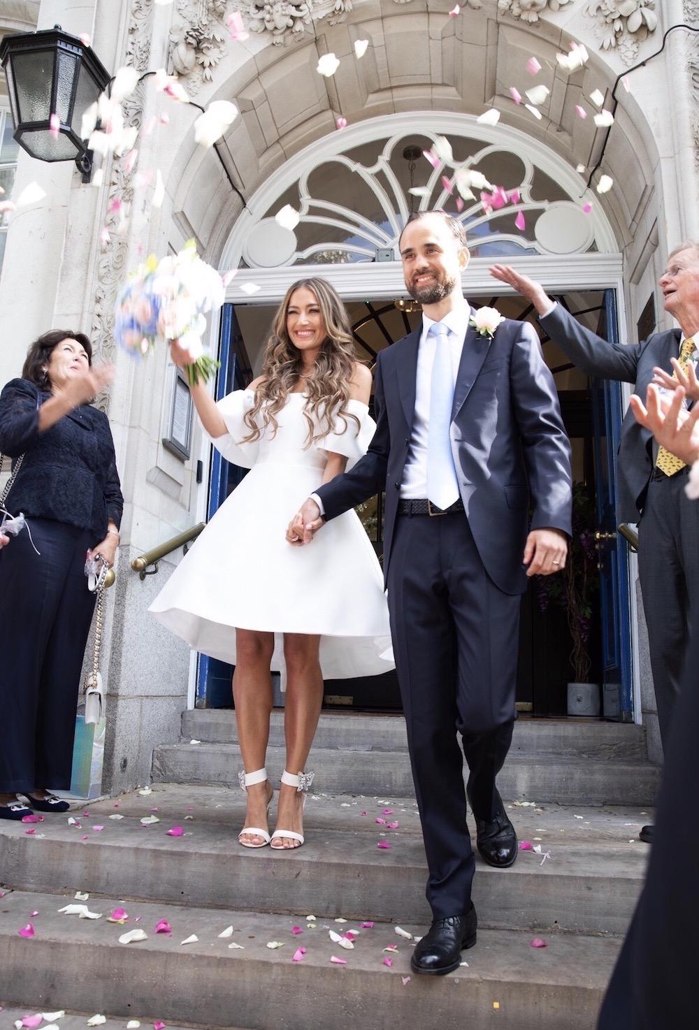 Suzanne Neville Aruna wedding dress