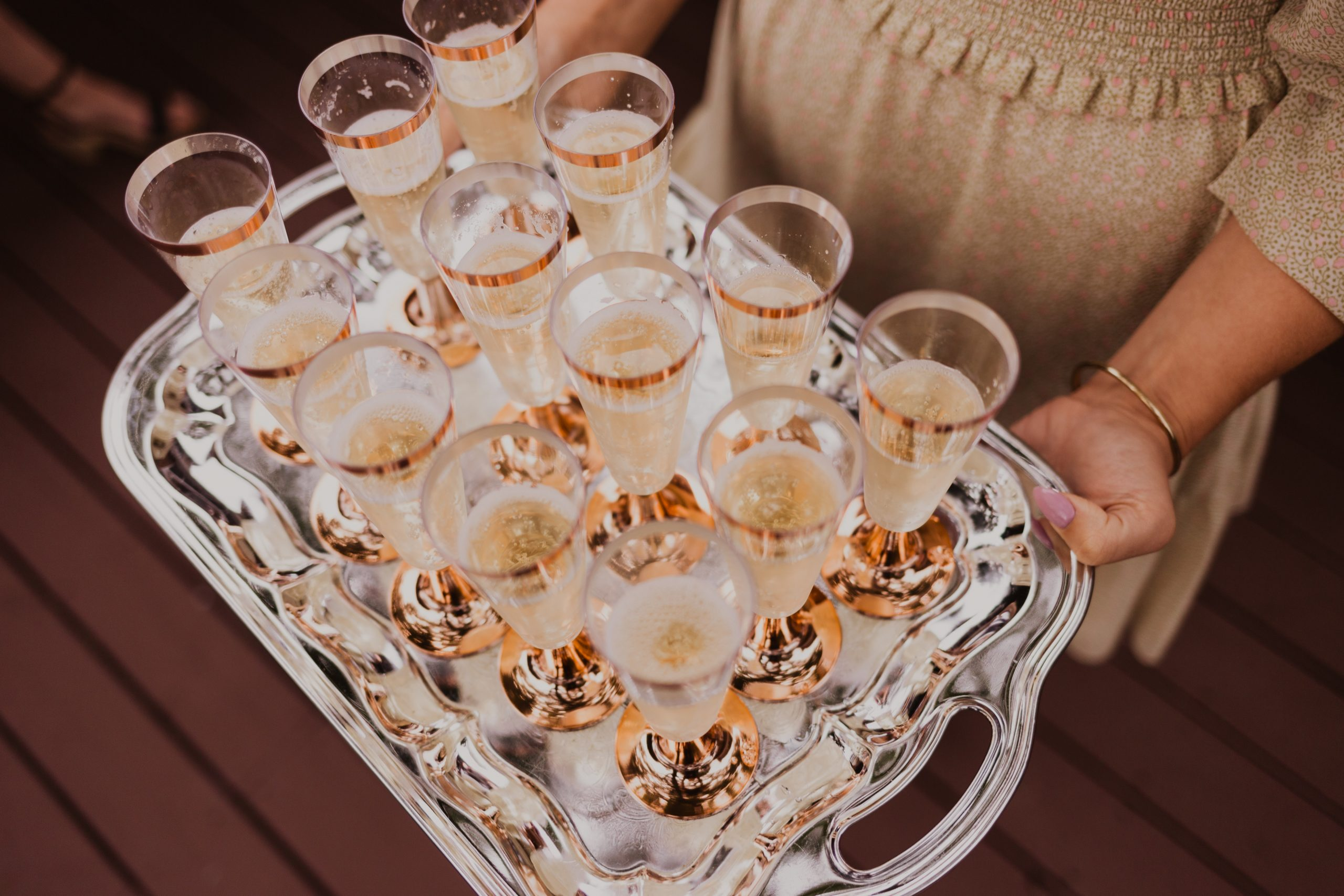 Start the evening with a glass of champagne